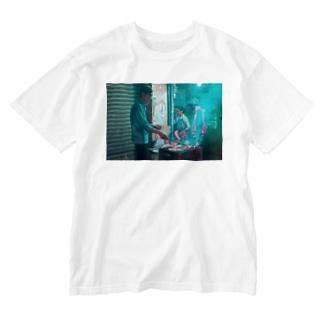 焼肉路面店 Washed T-shirts