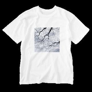 采-aya-の道中、冬 Washed T-shirts