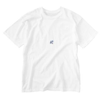 くものうえのくま Washed T-shirts