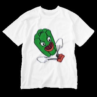 Orihamo Tのピーマンパプリカ Washed T-shirts