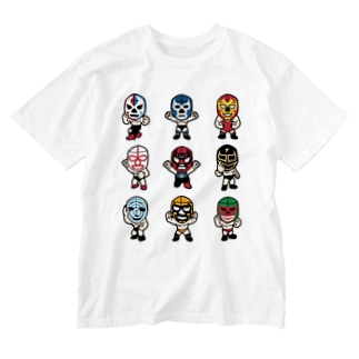 LUCHADOR nueve Washed T-shirts