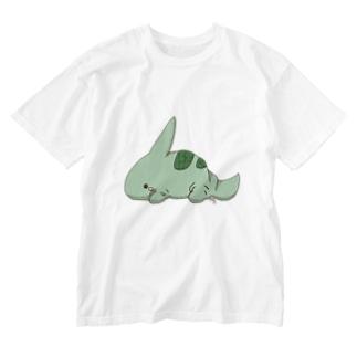 トゲガメ Washed T-shirts