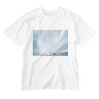 夏の空 Washed T-shirts