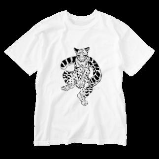 稲尾のウンピョウ Washed T-shirts