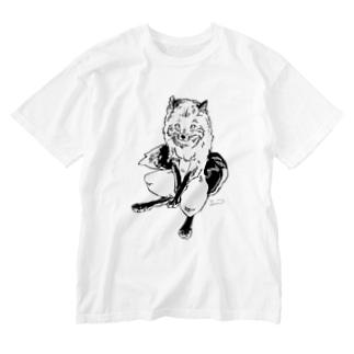 キタキツネ Washed T-shirts