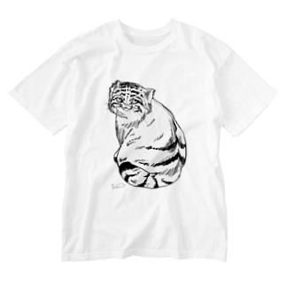 マヌルネコ Washed T-shirts