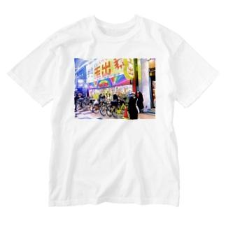 イケてるスーパー Washed T-shirts
