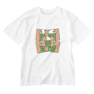 くりーむそーだ Washed T-shirts