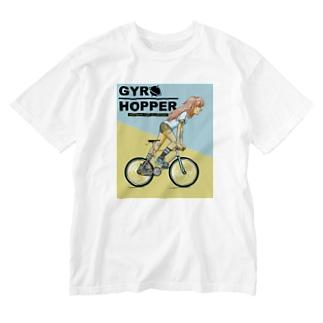 GYRO HOPPER (inked fixie girl) Washed T-Shirt