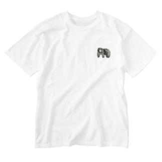 ワンポイントくま Washed T-shirts