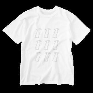 へっぽこ商店。のウサウサウサ(ロップさん) Washed T-shirts