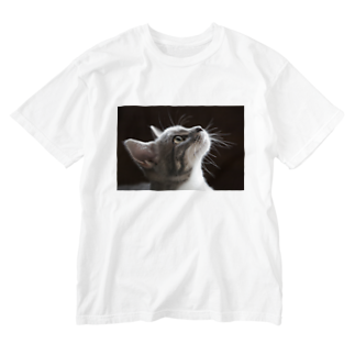 Aiko Nakanoの雨の朝、仔猫の瞳を通せば何でも新鮮。 Washed T-shirts