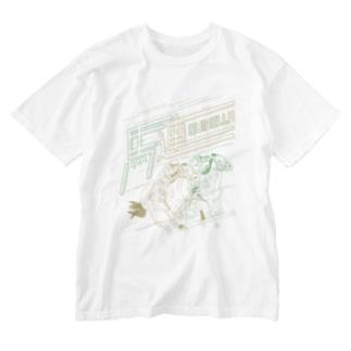 馬連で勝つ(Bタイプ) Washed T-shirts