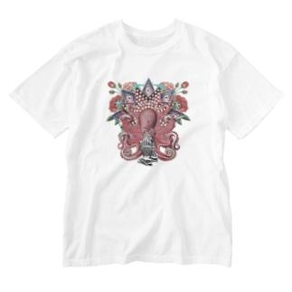 たこ信仰 Washed T-shirts