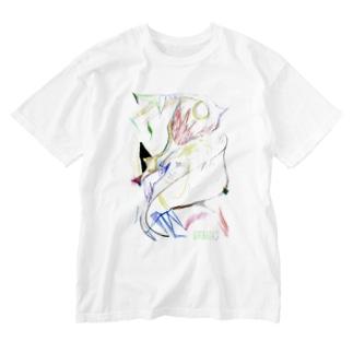 ウルフ Washed T-shirts