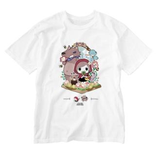 『赤ずきんちゃん』 ウォッシュTシャツ オリジナルデザインTシャツ Washed T-shirts