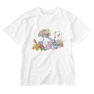 『日本のきもの美人』~夏の思い出~ ウォッシュTシャツ Washed T-shirts
