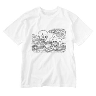 「ふゆゆんとぼさいのの食卓」 Washed T-shirts