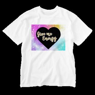 DOLUXCHIC RAYLOのGive me energy Heart  Washed T-shirts