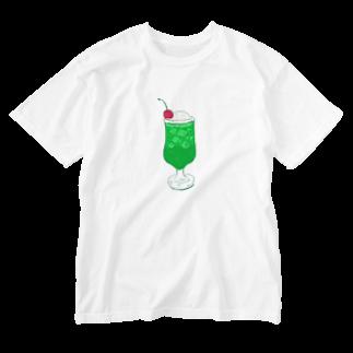 NIKORASU GOのメロンクリームソーダ@文字なし Washed T-shirts