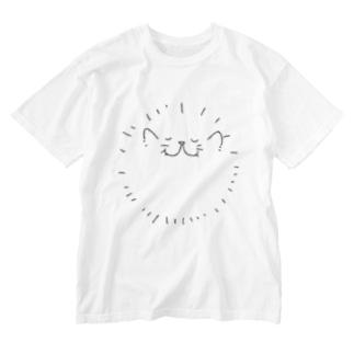 カネムネのふんわり猫2 Washed T-shirts