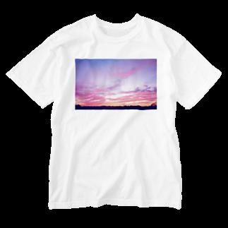 DOLUXCHIC RAYLOのPink Sunset sky Washed T-shirts