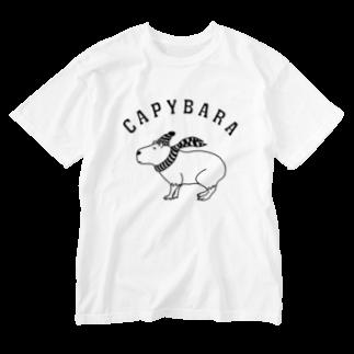 Aliviostaのカピバラ 動物イラスト Washed T-shirts