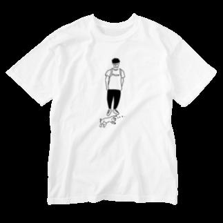 AliviostaのMove ヒトとネコ イラスト Washed T-shirts