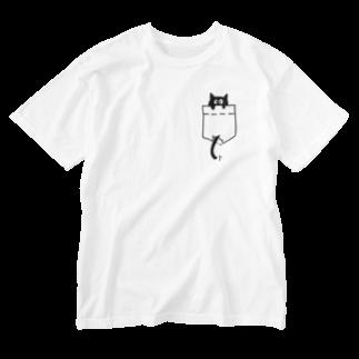 MAISONDEAS👗洋裁ブログ&型紙販売👚の黒猫ポケット Washed T-shirts