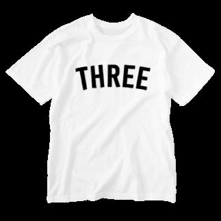 THREE TEA GO.のTHREE Washed T-shirts