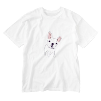 フレンチブル Washed T-shirts