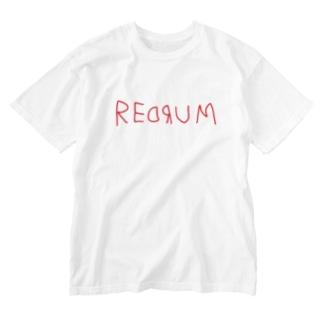 REDRUM レッドラム ロゴ Washed T-shirts