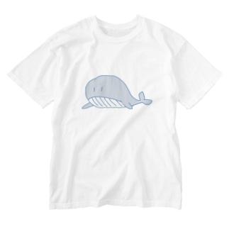 くじらちゃん Washed T-shirts