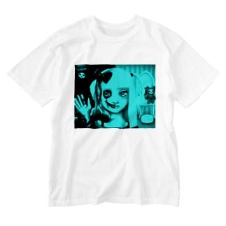 はんぶんこ Washed T-shirts