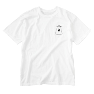 よじげんくんUFOアブダクション⁈ Washed T-shirts