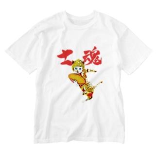 CAT BOY ラグビー士魂 Washed T-shirts