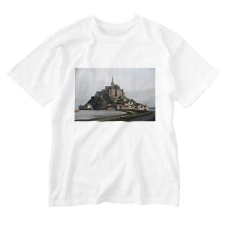 Mont Saint-Michel Washed T-shirts