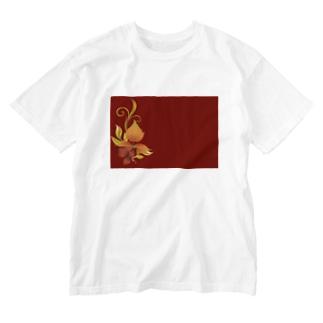 緋色 Washed T-shirts