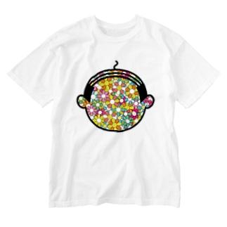 花咲かオヤジ Washed T-shirts