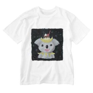 三日月プリンコアラ Washed T-shirts
