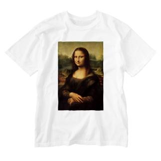 名画「モナ・リザ」 Washed T-shirts