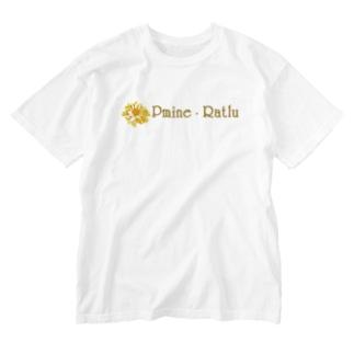 Pmine・Ratlu(プミーネラトル) Washed T-shirts