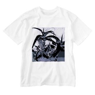 アロエ2 Washed T-shirts
