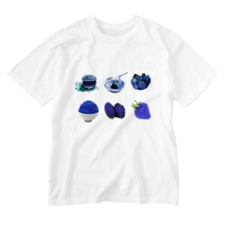 ブルーダイエット(ブルーグラス仕様) Washed T-shirts