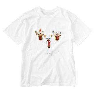 猫福2 Washed T-shirts