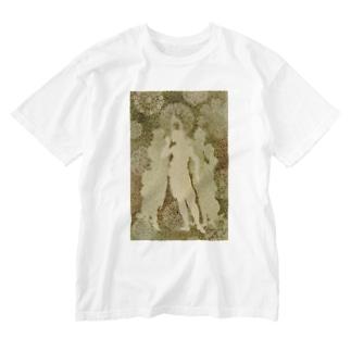 「春」より三美神 Washed T-shirts