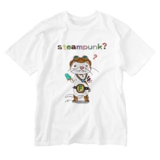 すちぃむぱんく?フェレットラバー Washed T-shirts
