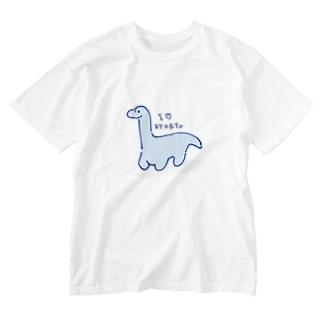きょうりゅうが好き Washed T-shirts