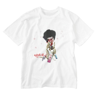 Kabuki cat 桜吹雪 Washed T-shirts