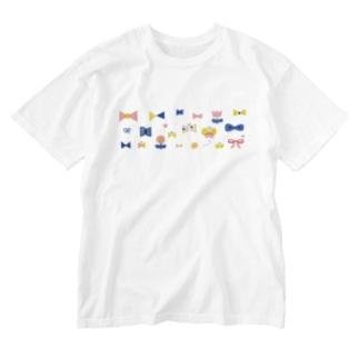 チョウチョ Washed T-shirts